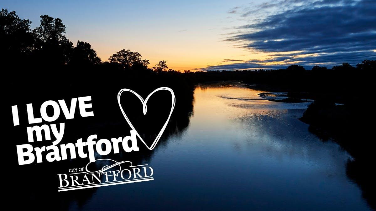 The Grand River in Brantford