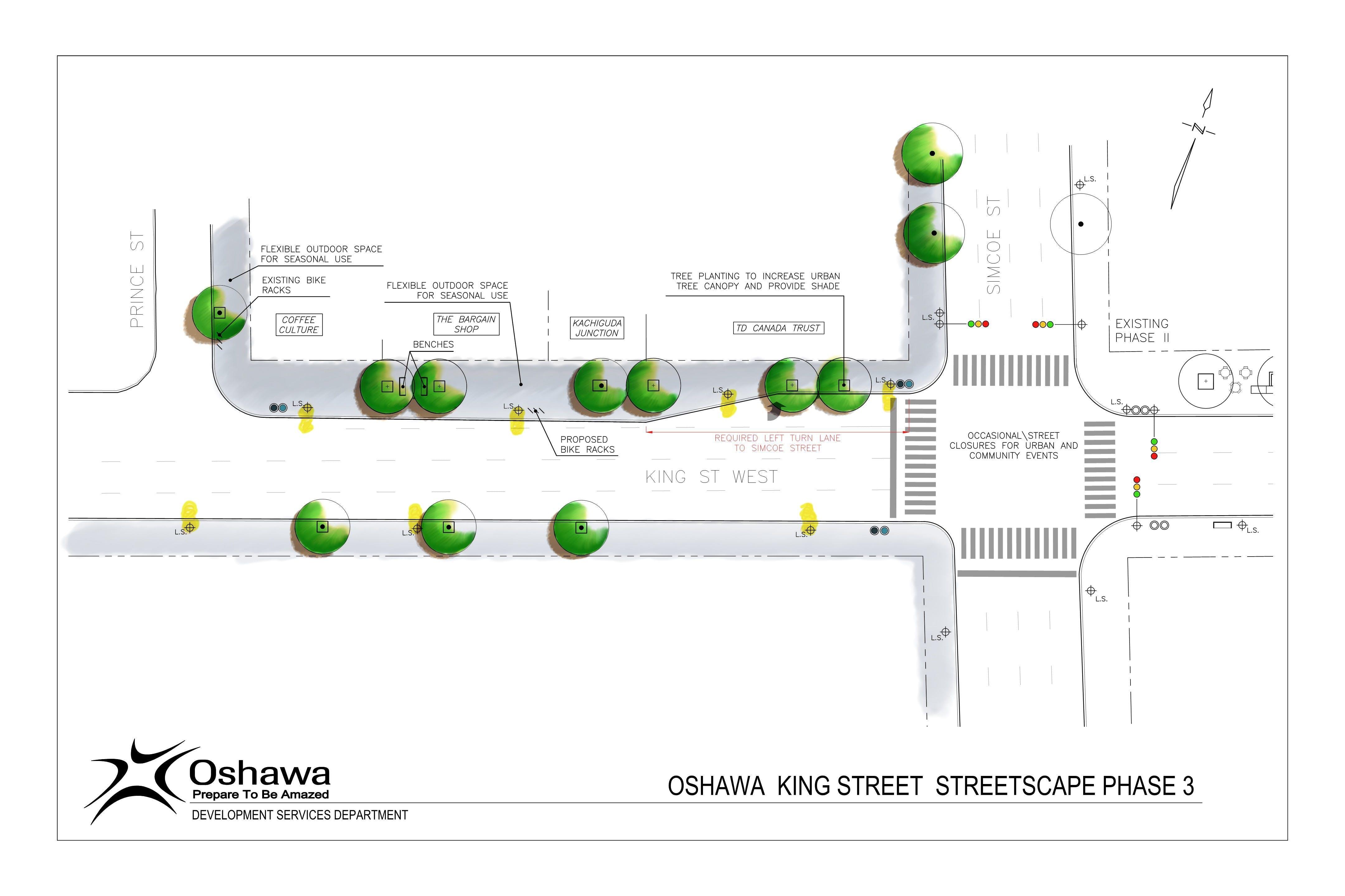 Conceptual Design King Street Streetscape - Phase 3