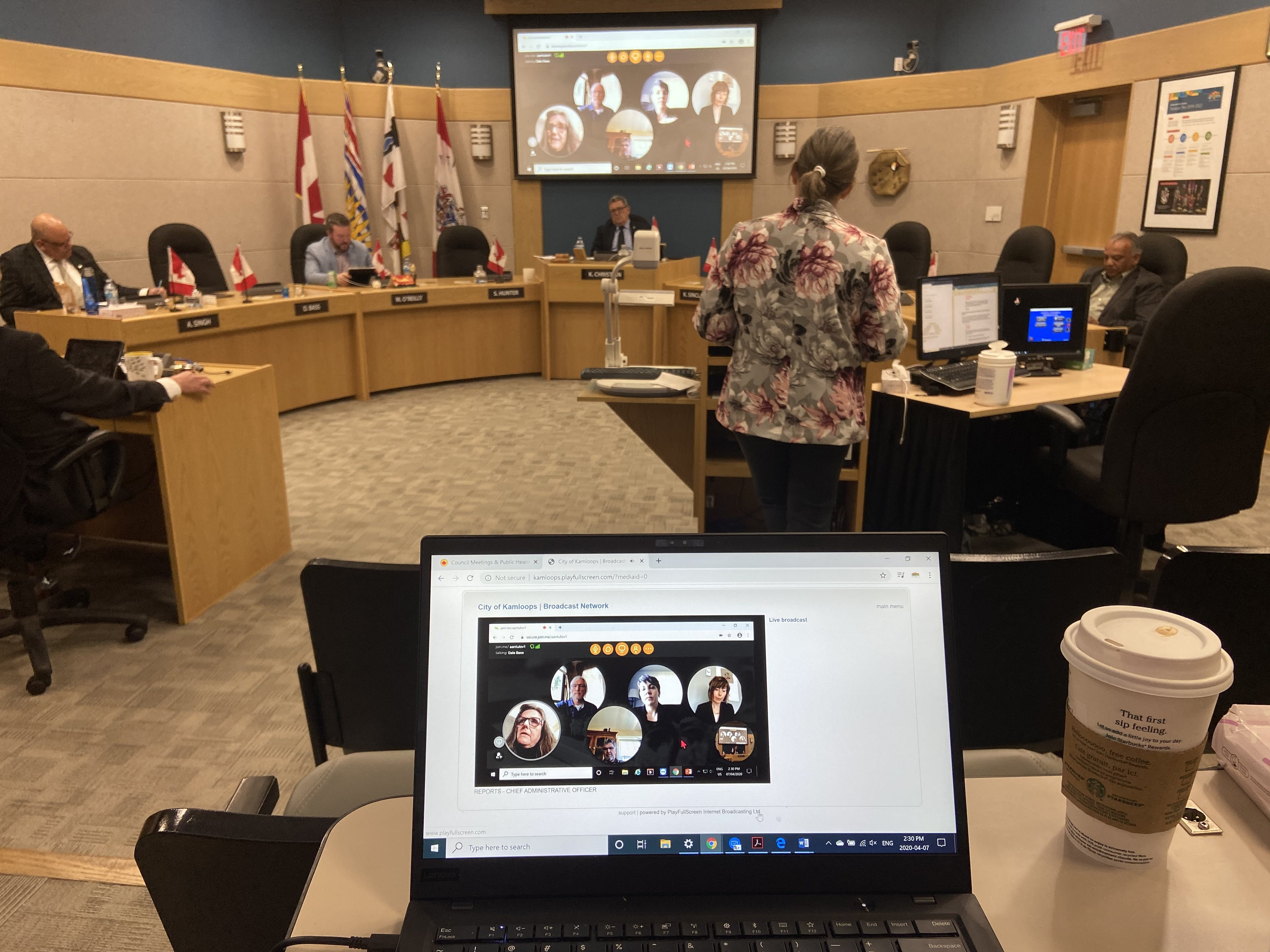 First City Council Meeting with Physical Distancing