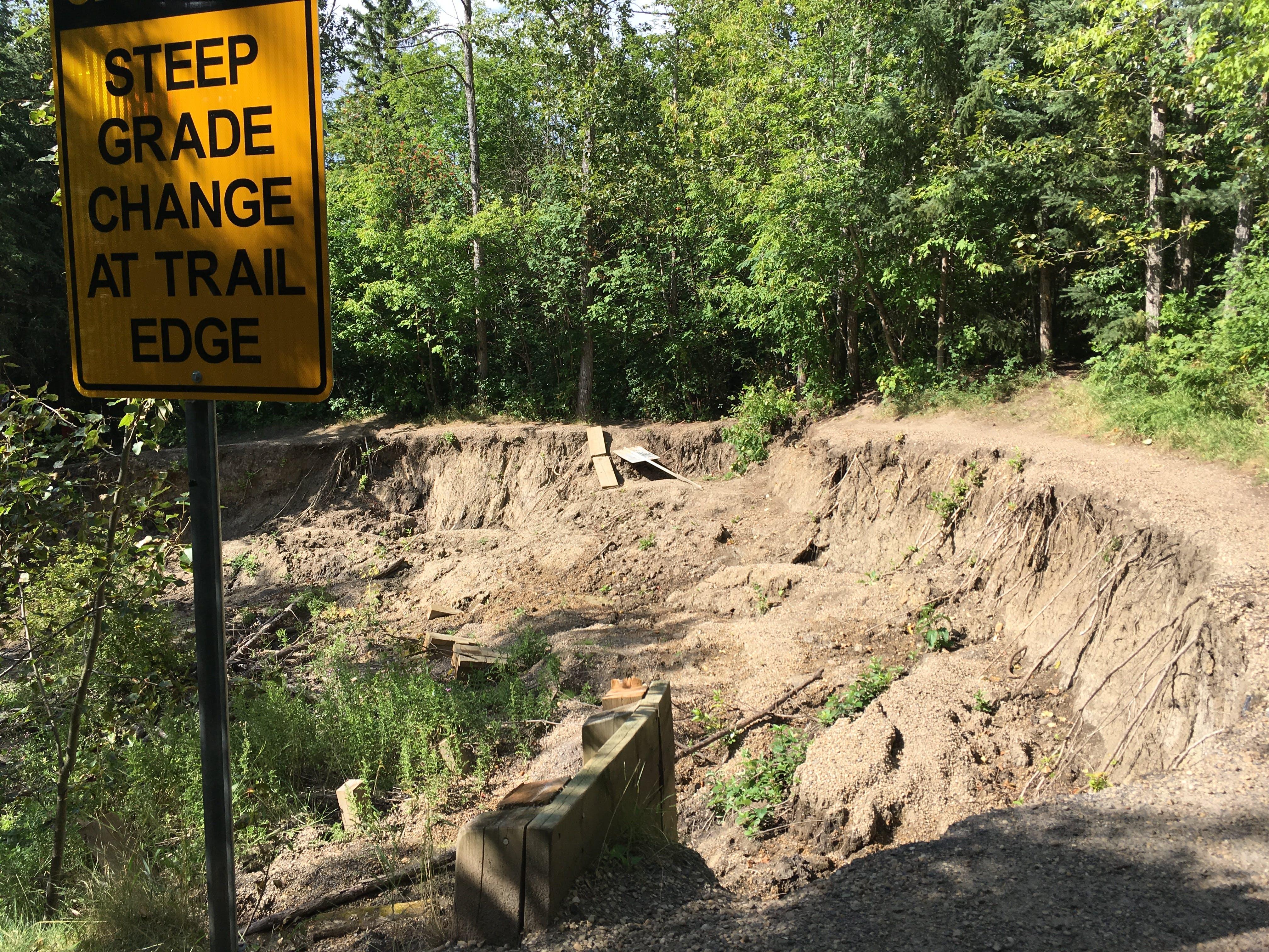 Mill Creek Lower Trail Failure