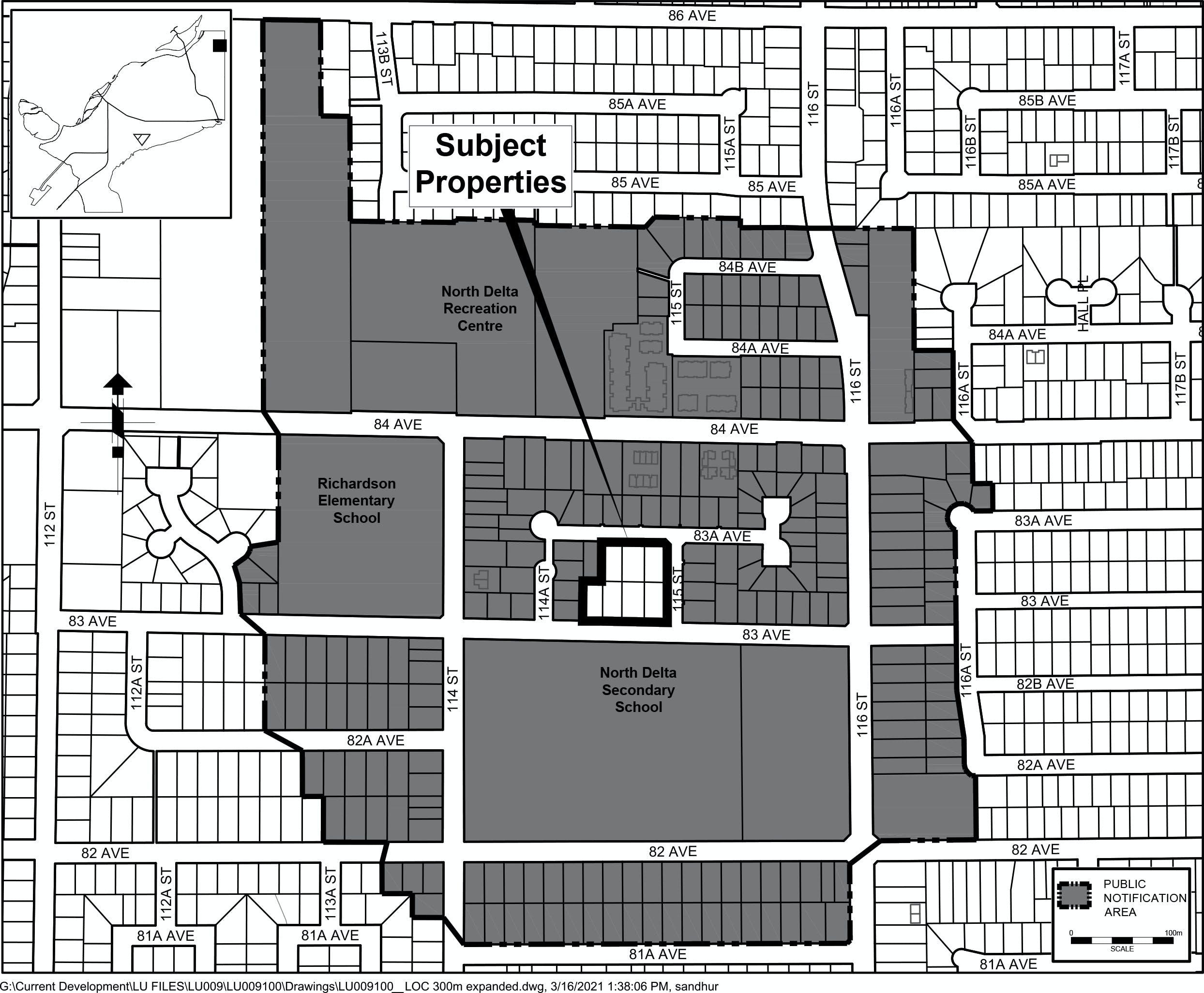 Location Map & Notification Area