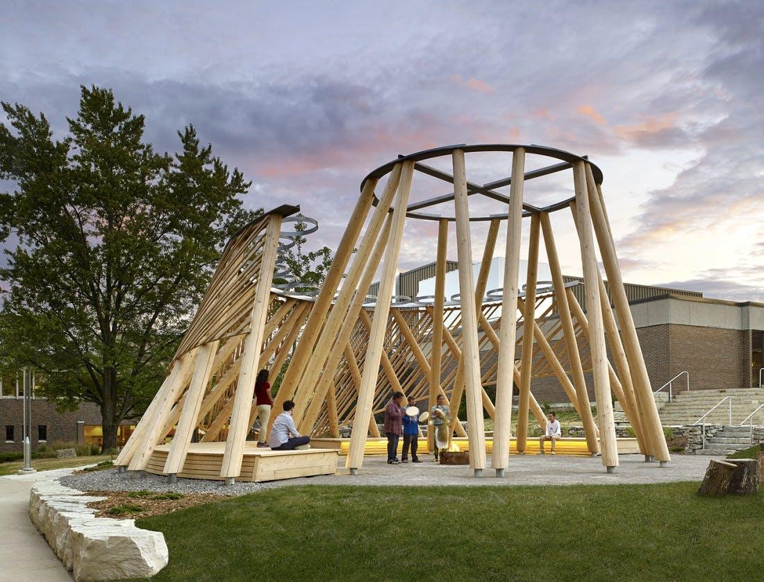 Hoop Dance gathering place, Brook McIlroy, Mohawk College, Hamilton  photo by Tom .jpg
