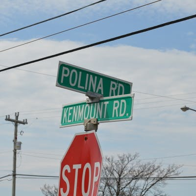 Area street signs