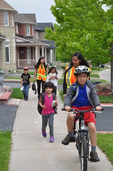 Walking and Cycling To School
