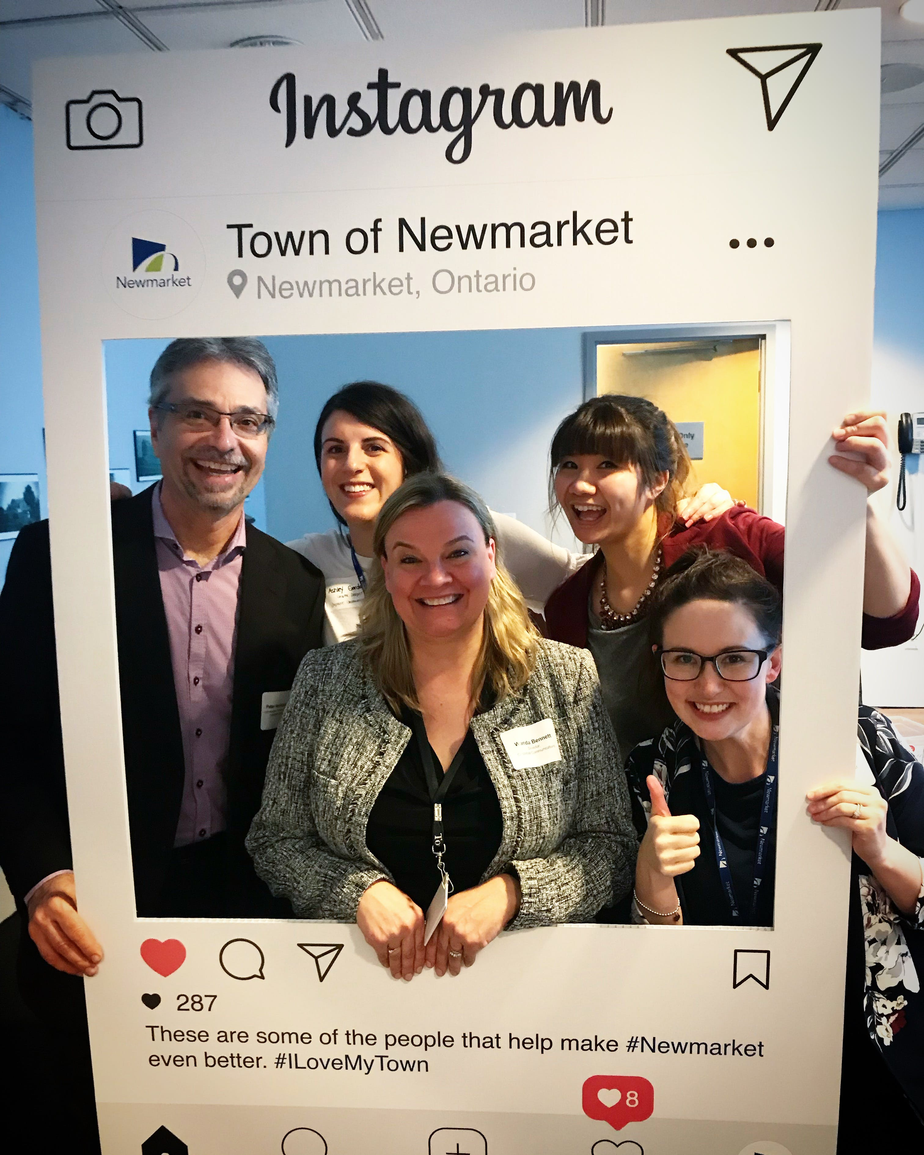 Newmarket staff enjoying the Community Open House event on February 28, 2018