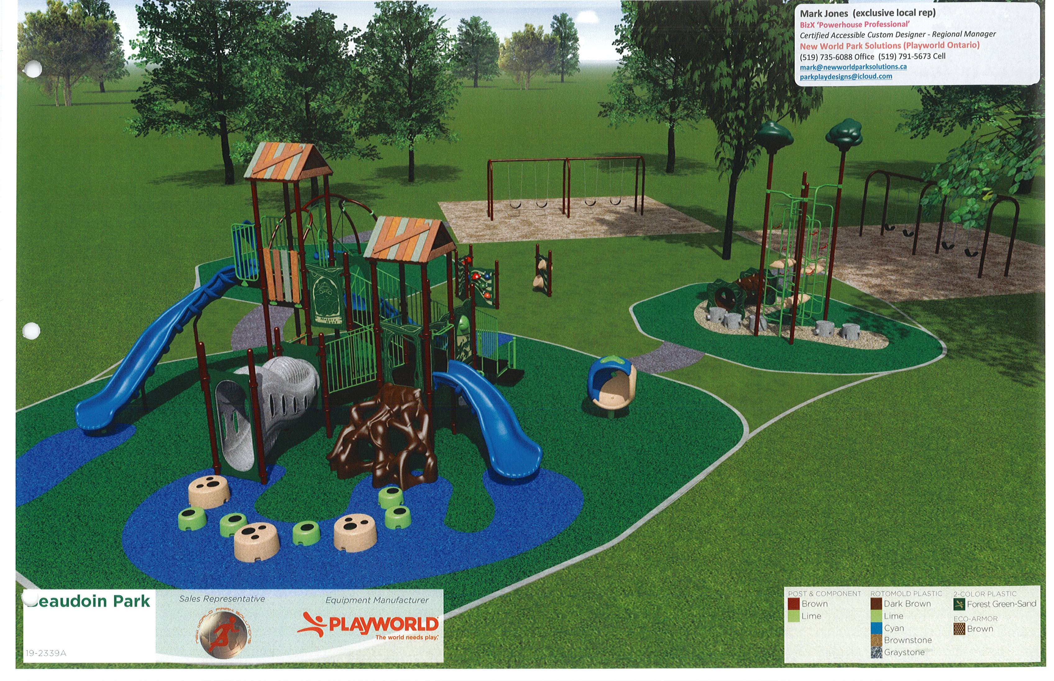 Beaudoin Park multi event play unit (rendering)