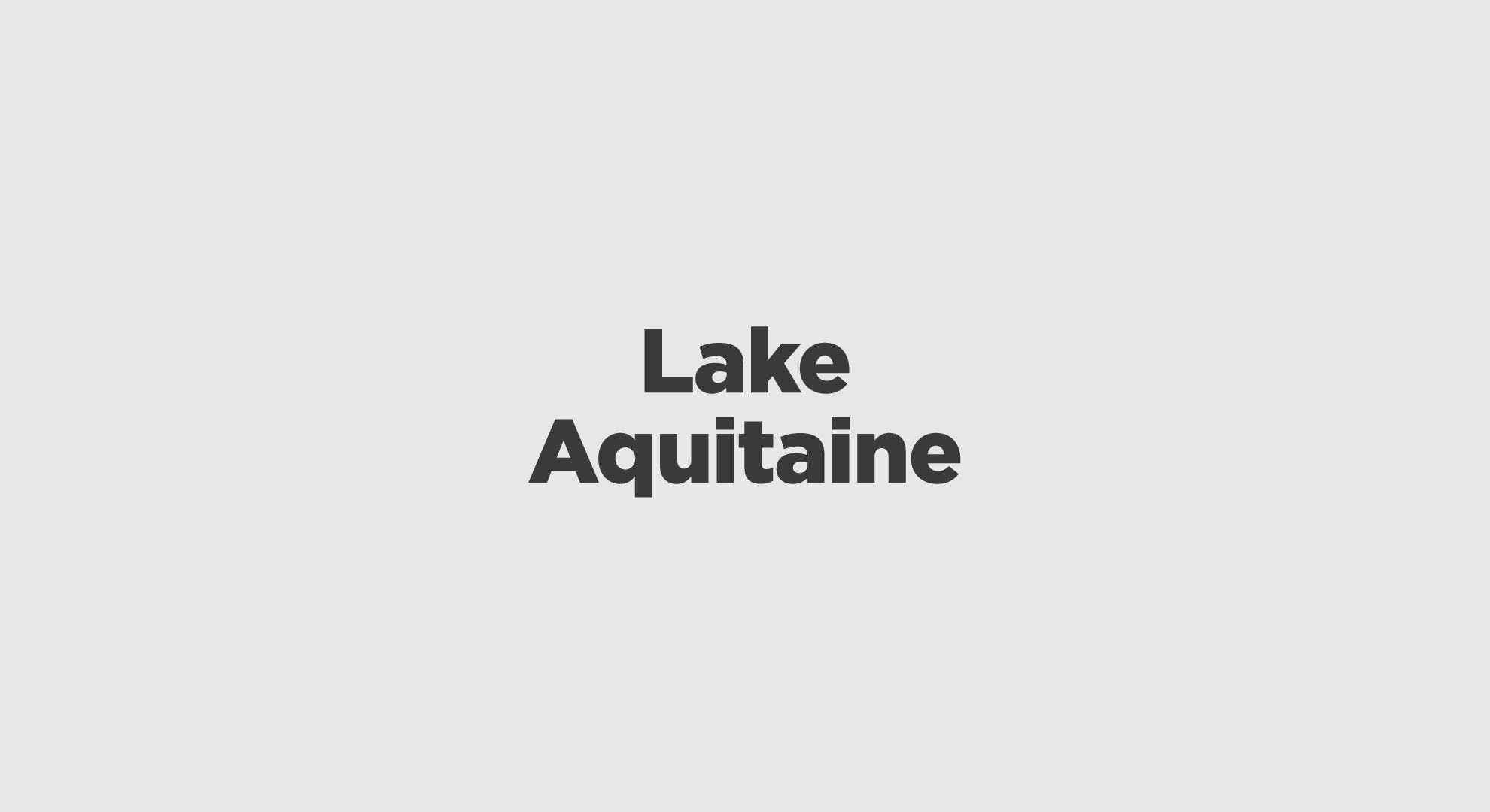 Lake Aquitaine Graphic