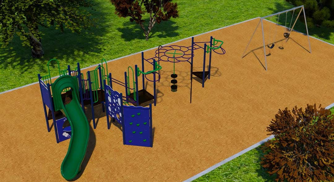 Renewed Lakeview Playground
