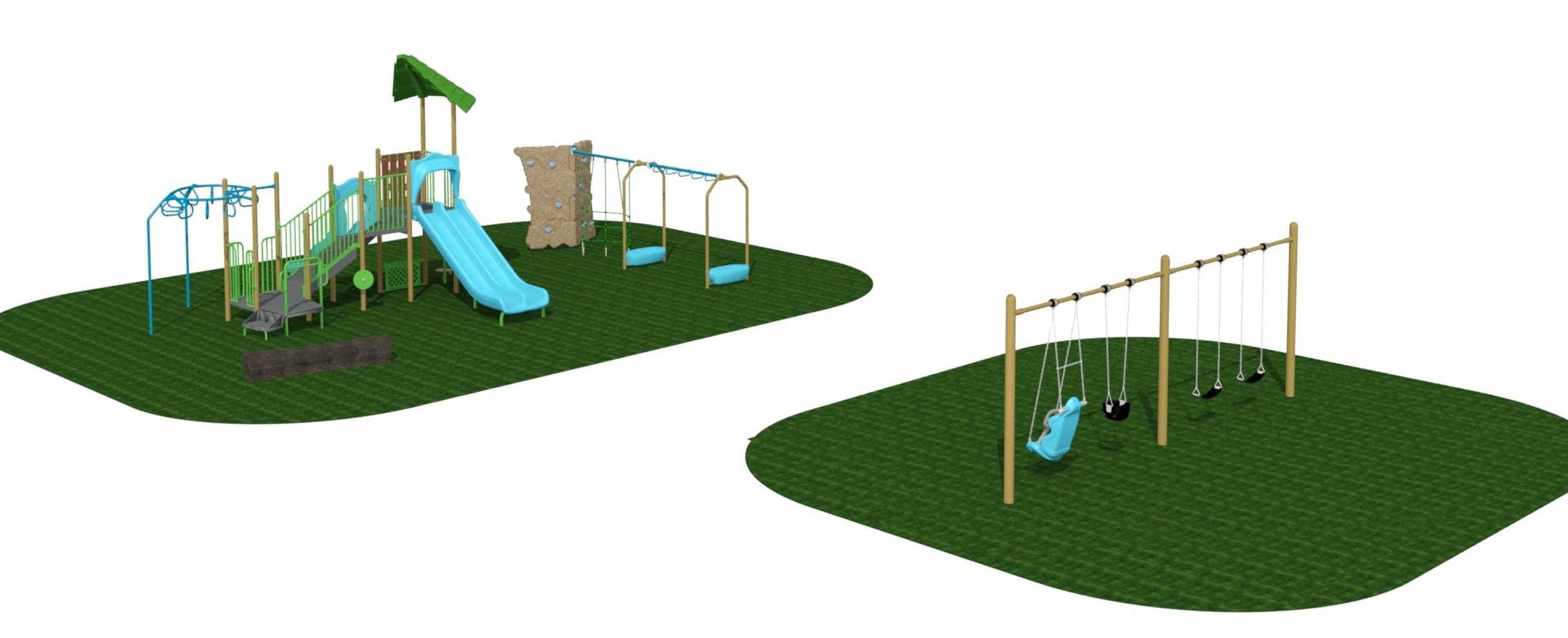 Corwin Park Playground Rendering