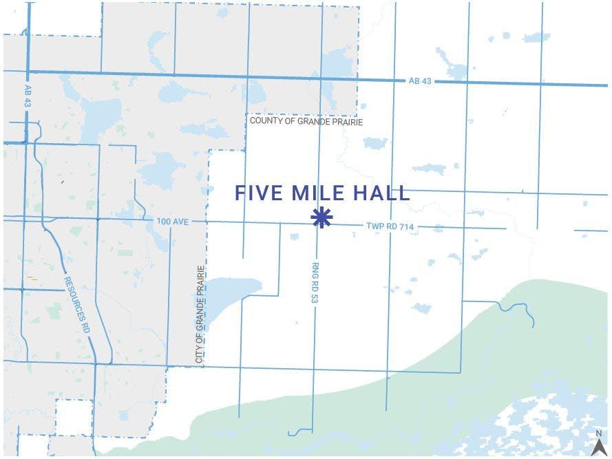 Five Mile Hall Map