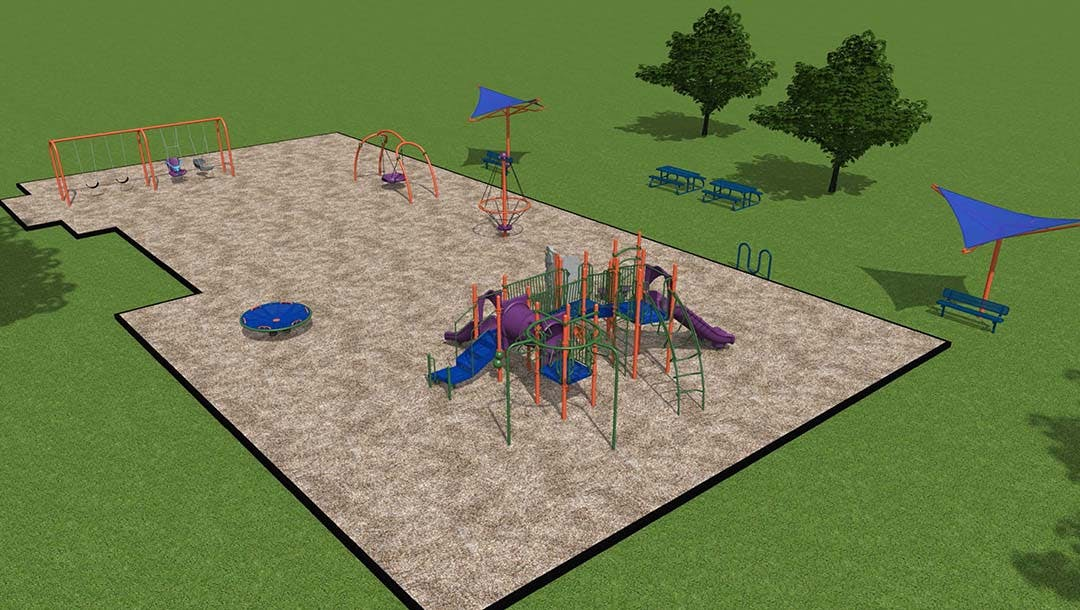 Lively Playground Structure