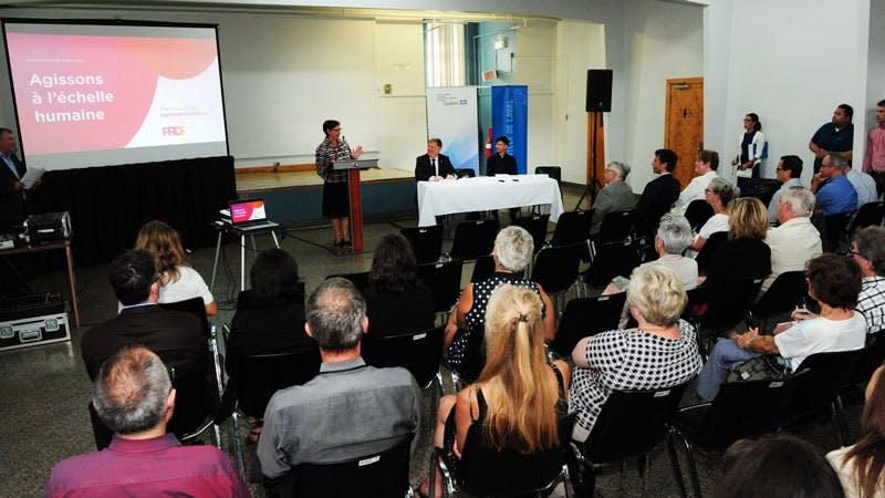 Au lancement de la démarche de consultation - septembre 2016