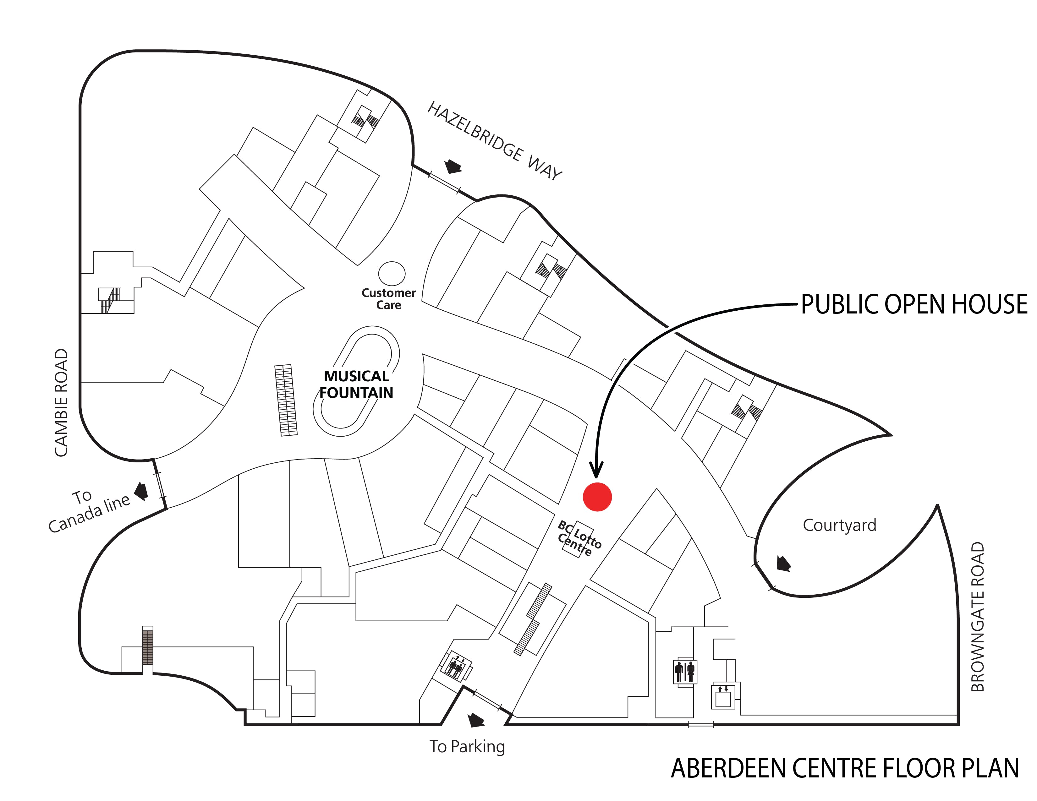 Map to open house at Aberdeen Centre on Sat. Nov. 17
