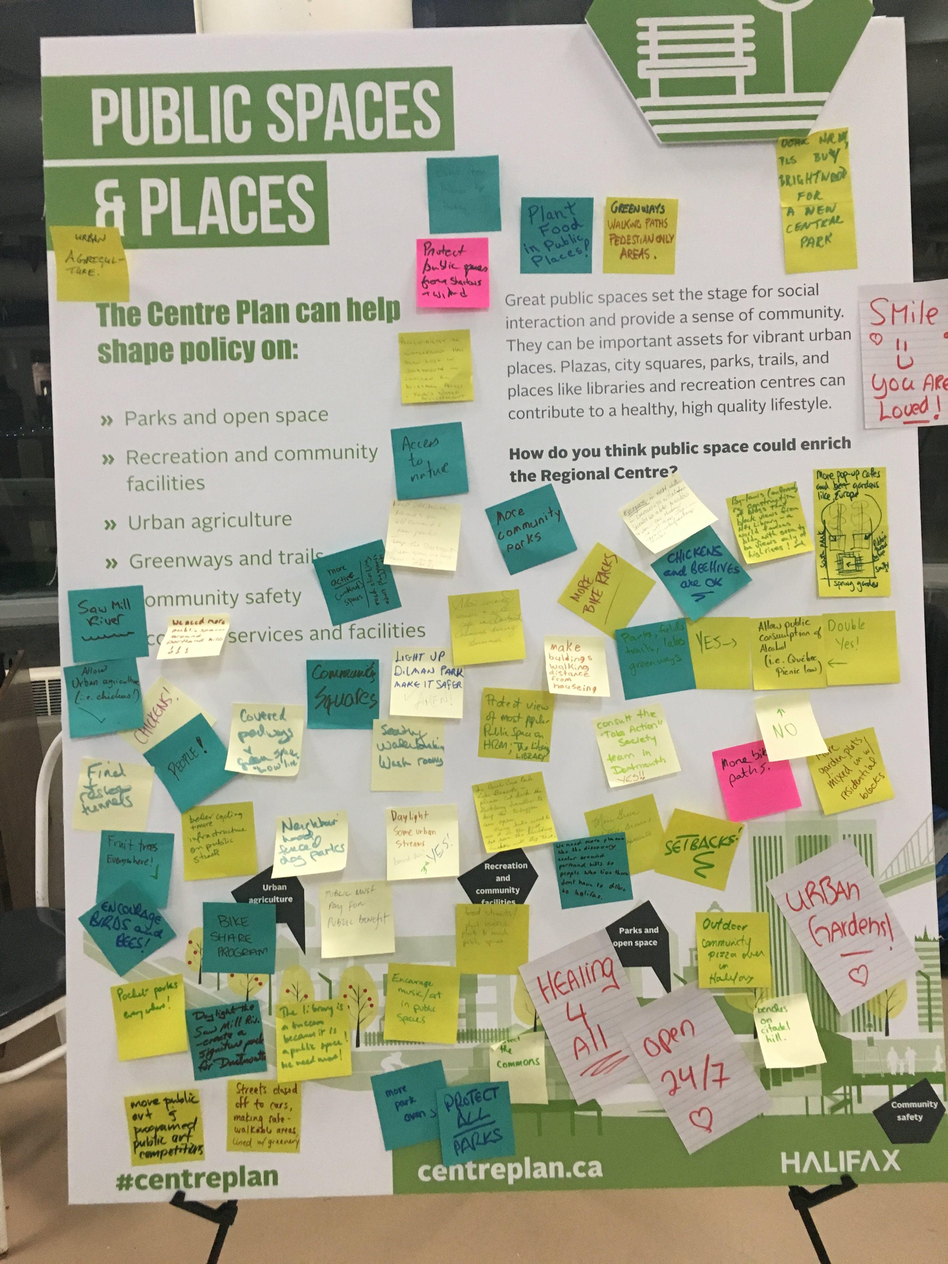 Centre Plan Launch - Public Spaces Theme Board