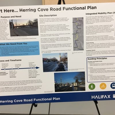 Herring Cove Road Open House Presentation Board