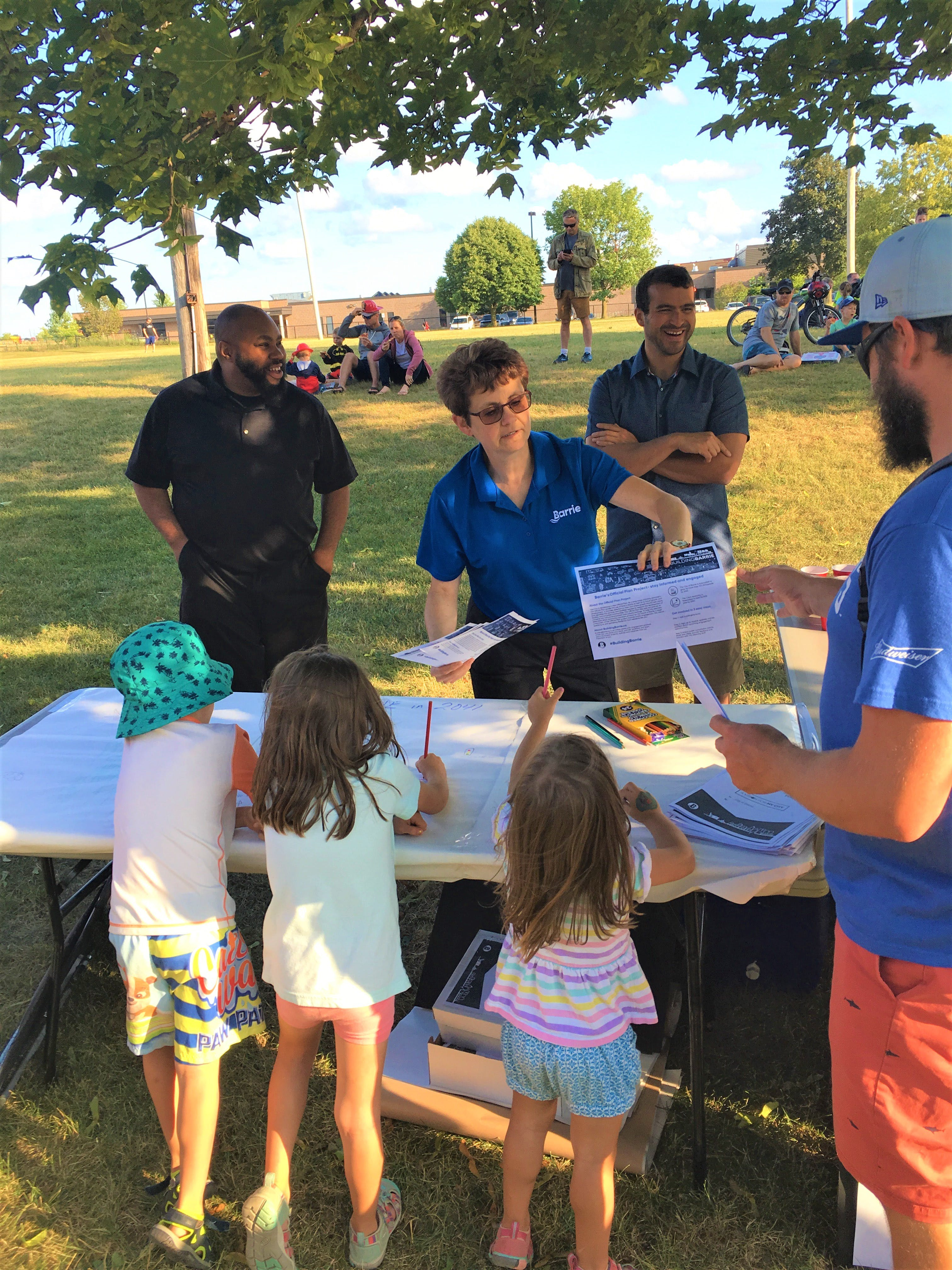 Engaging with community members at Barrie Fire and Emergency Service's Hot Summer Nights event