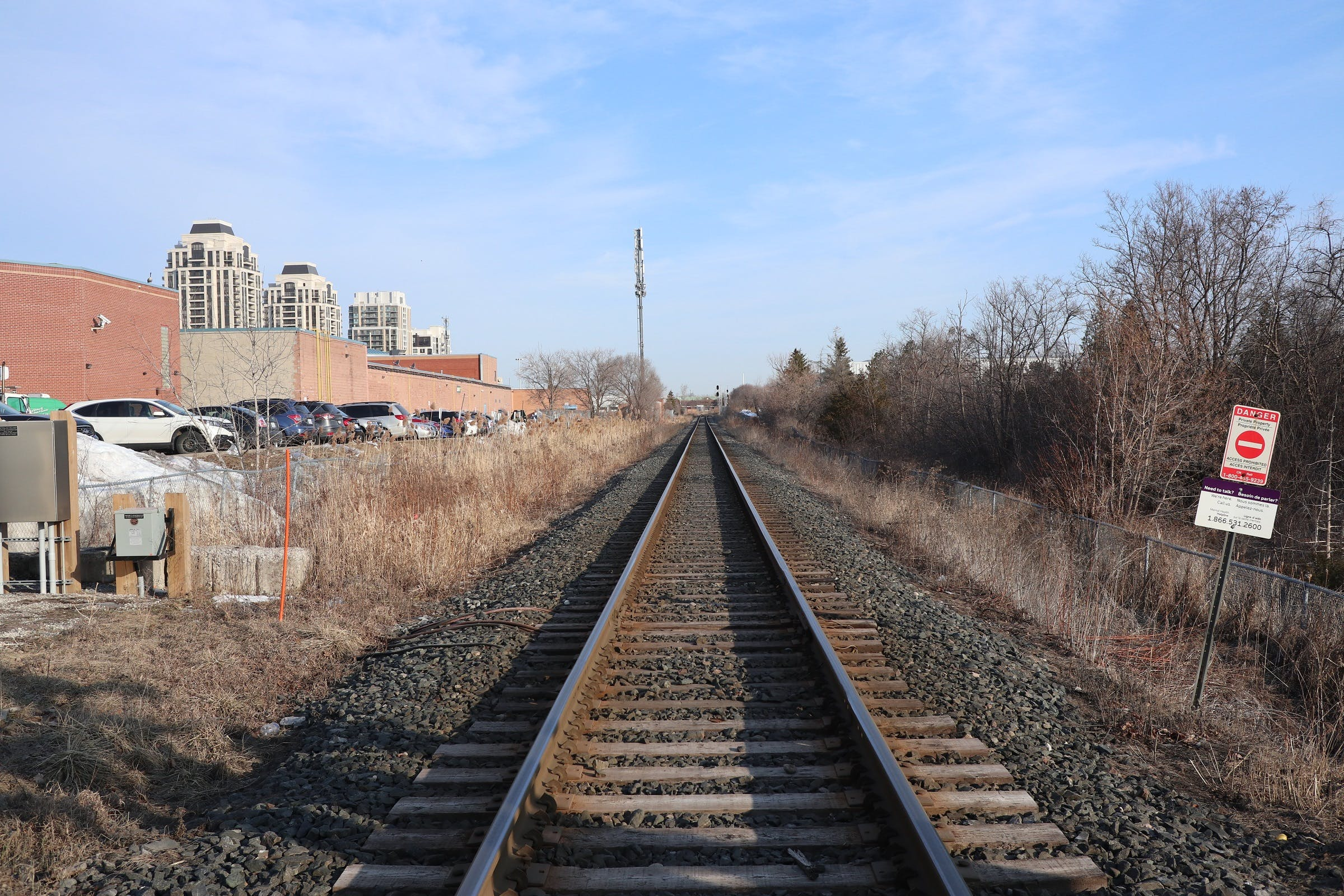 Rail Corridor looking north from 16th Avenue