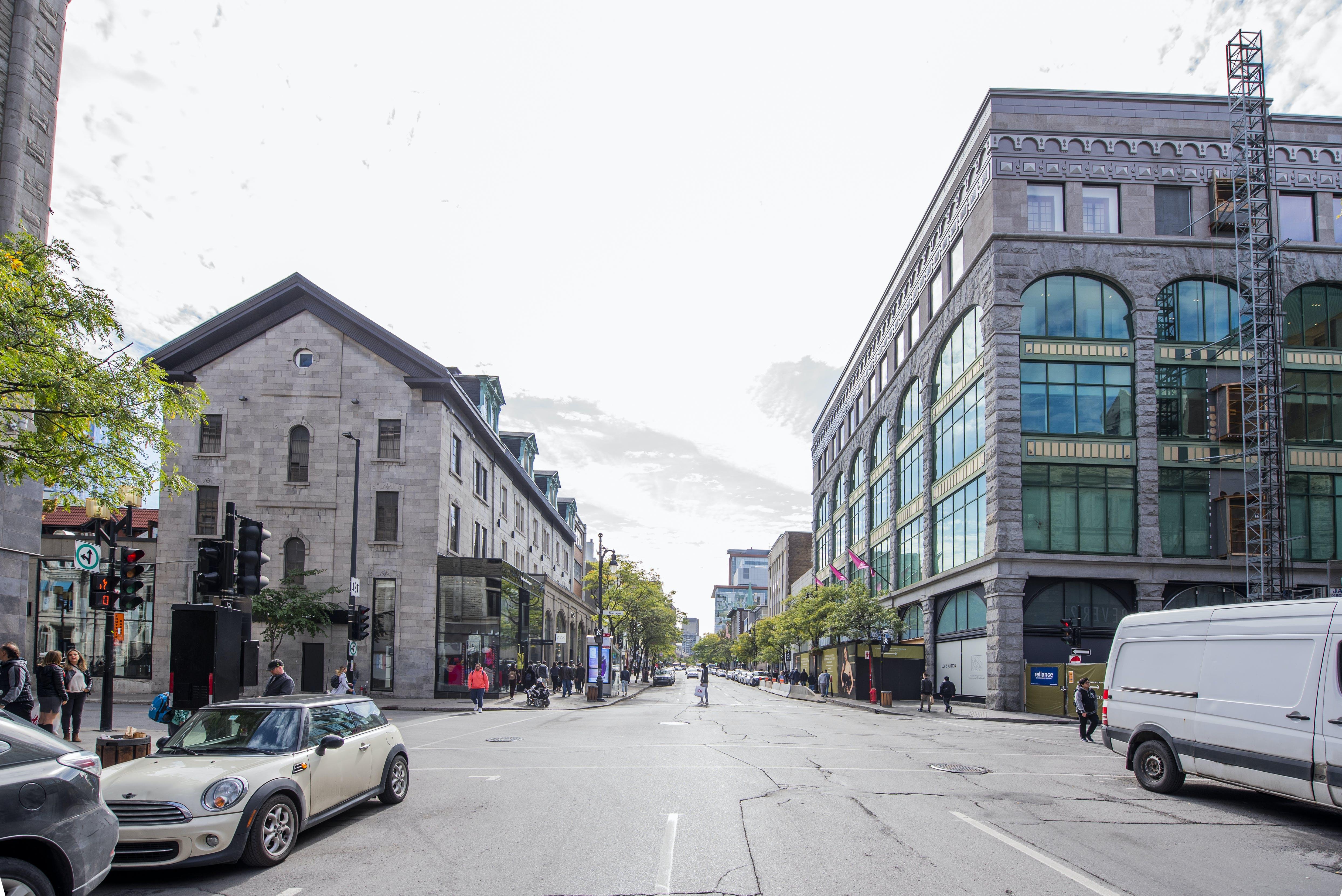 Photo actuelle de la rue Sainte-Catherine - Phase 2