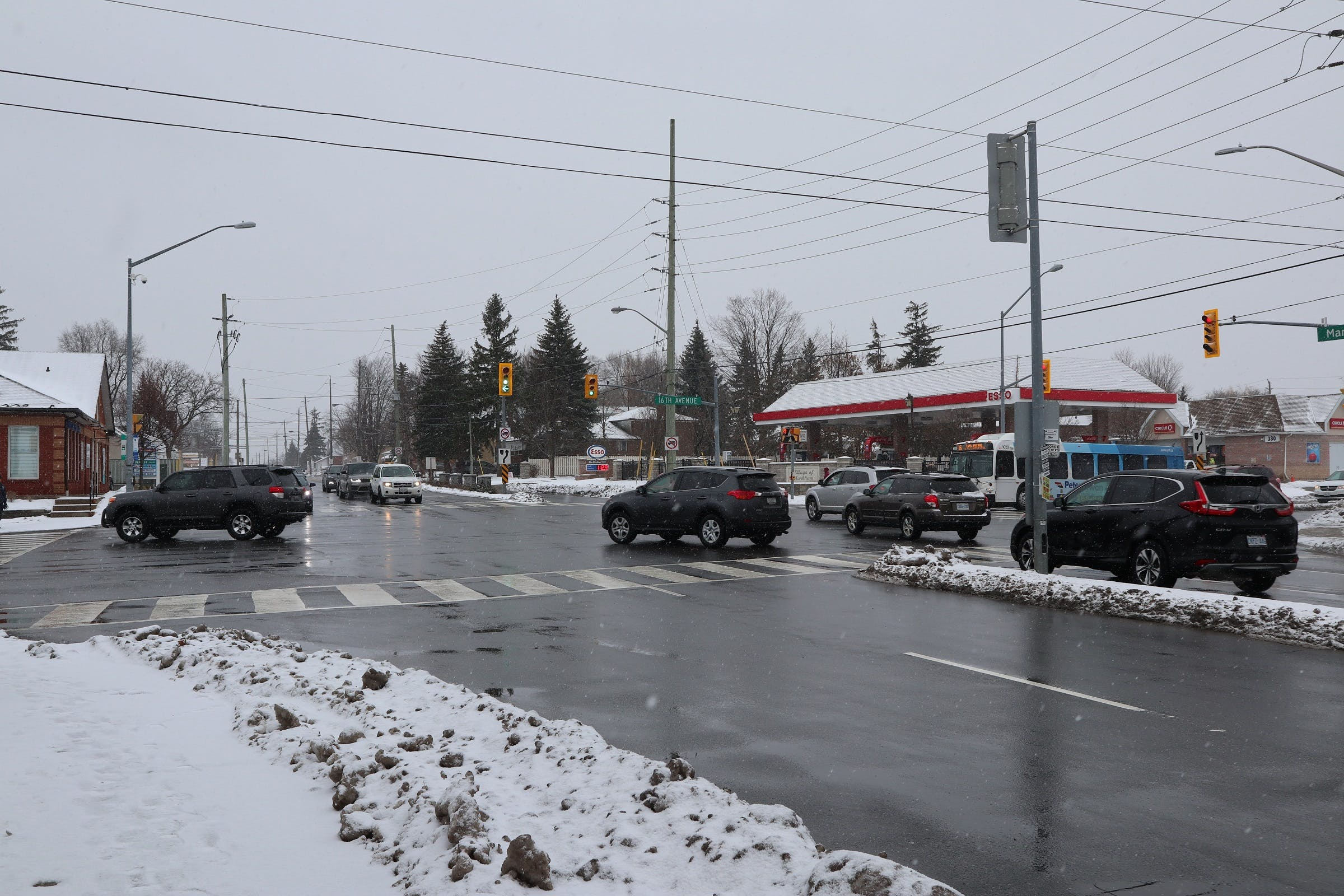 Markham Road looking south at 16th Avenue