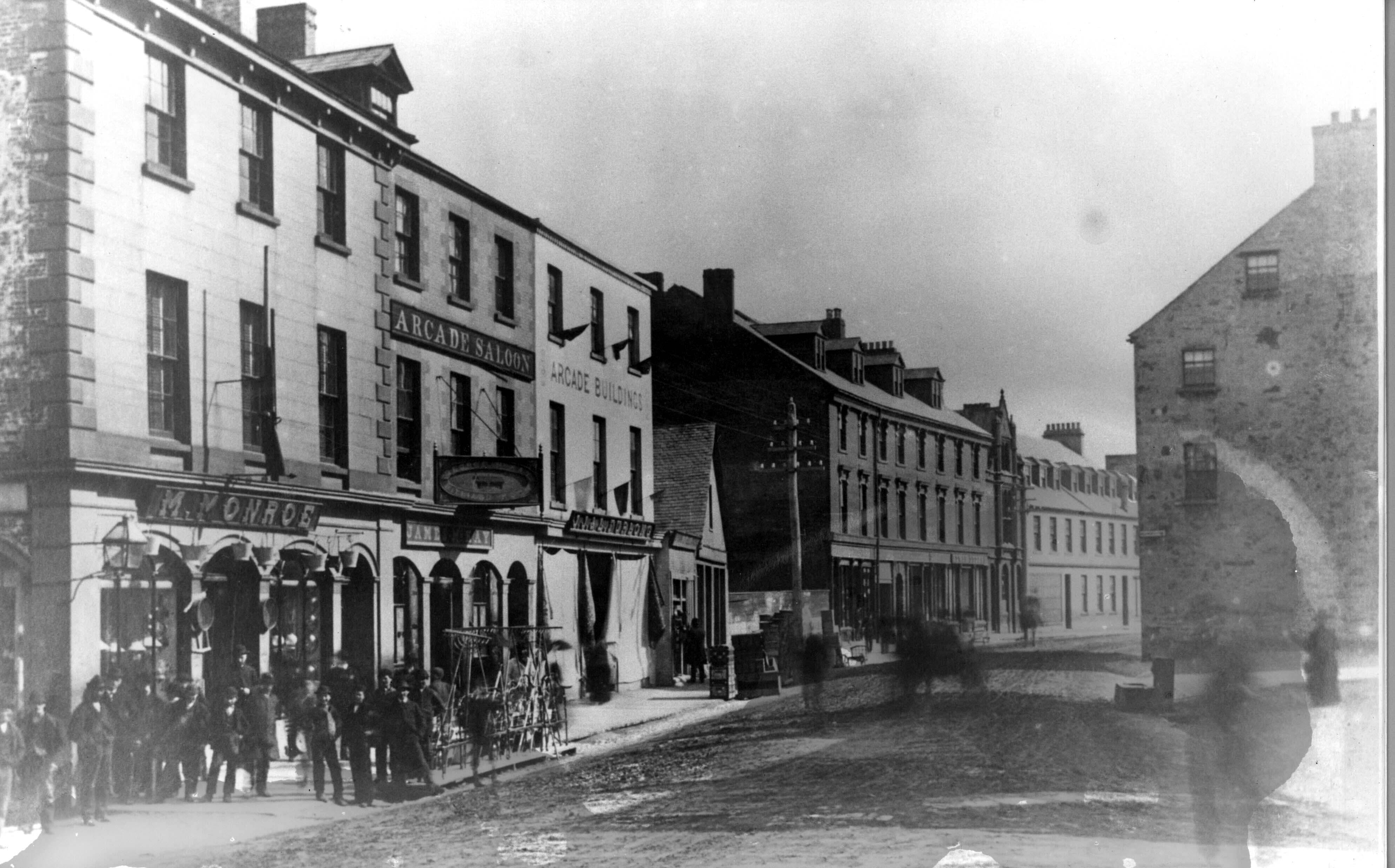 1880's: Water Street west looking west from the Arcade building