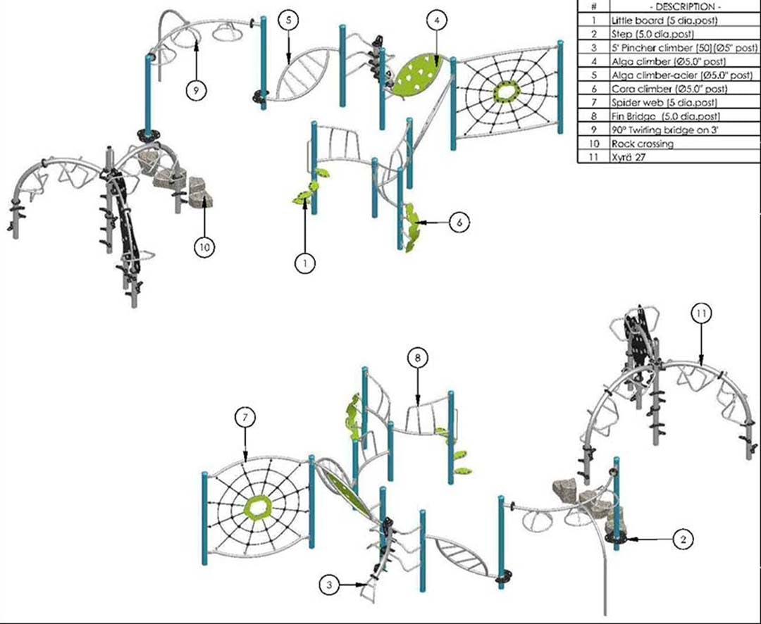 Coté Playground Structure