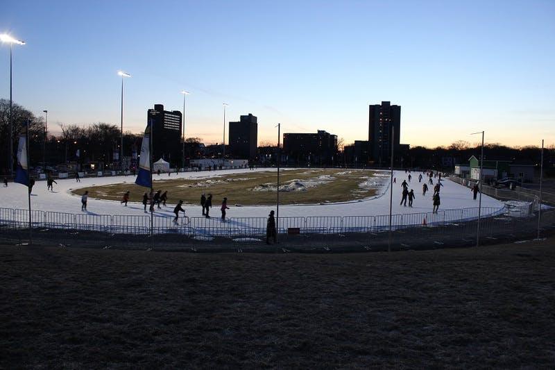 Emera Oval at dusk