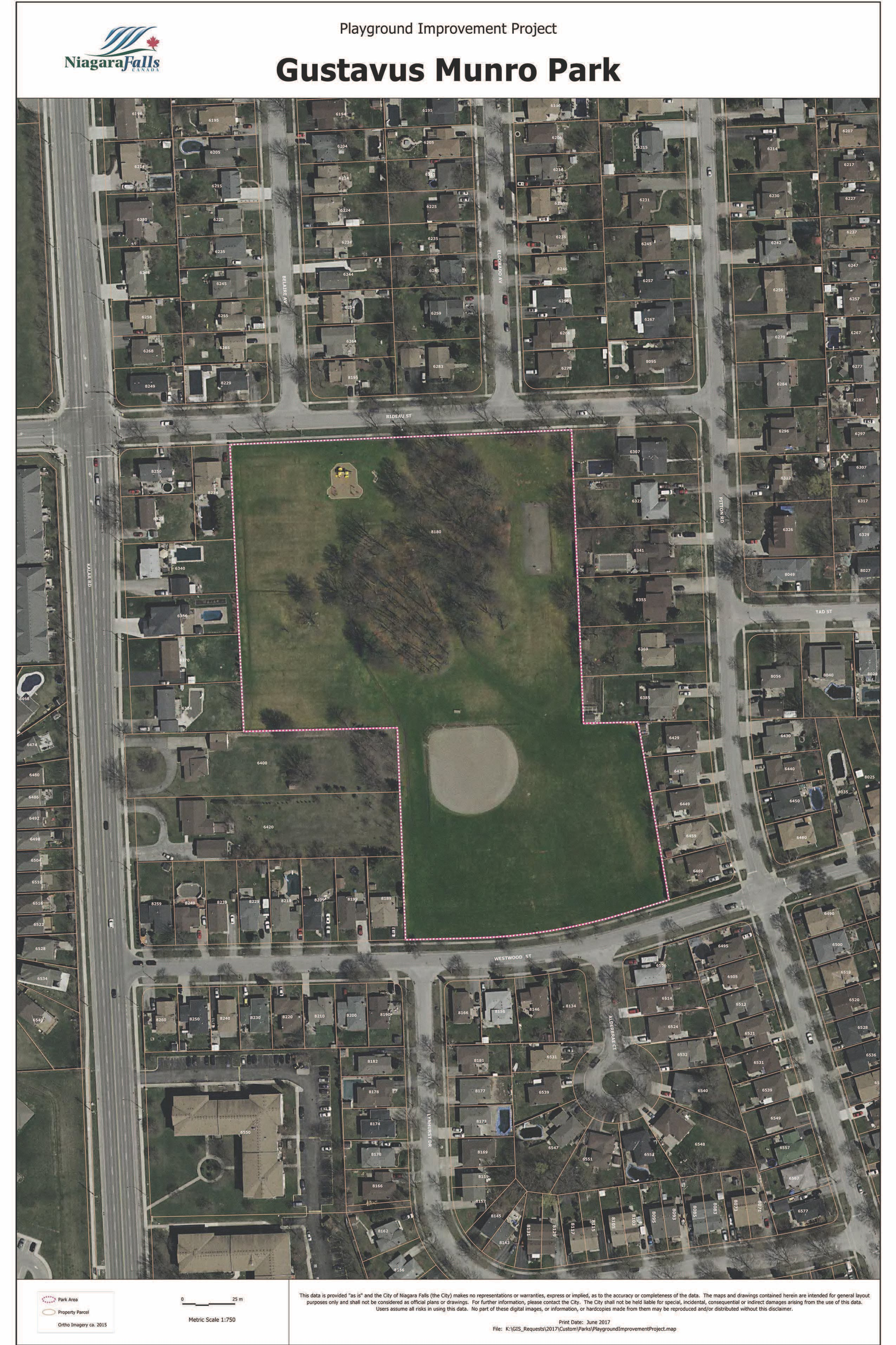 Gustavus Munro Park Plan