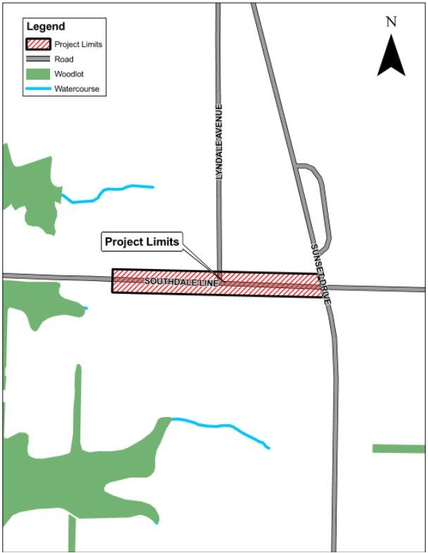 Southdale Line Reconstruction Project Limits
