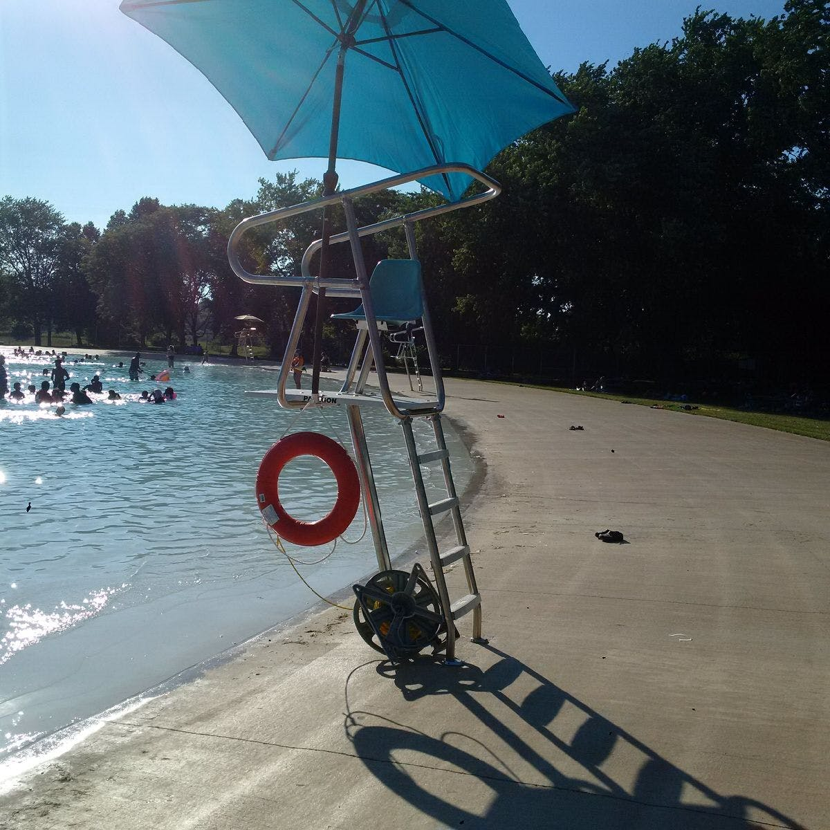 Lifeguard station beside the pool