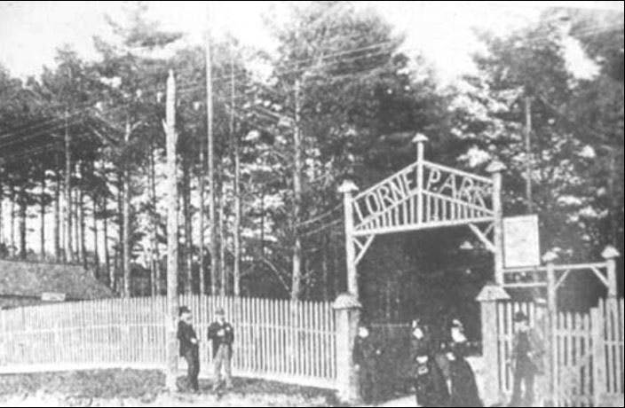Original gates to Lorne Park Estates, circa 1900
