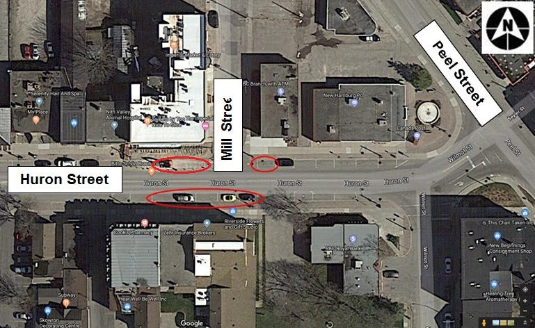 Huron At Mill Pedestrian Crossover Installation Map