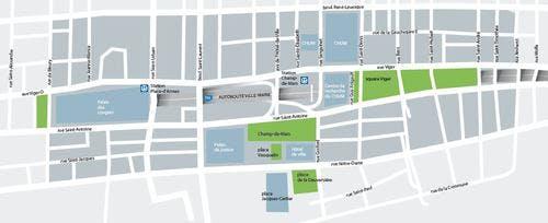 Map of Champs-de-Mars Sector