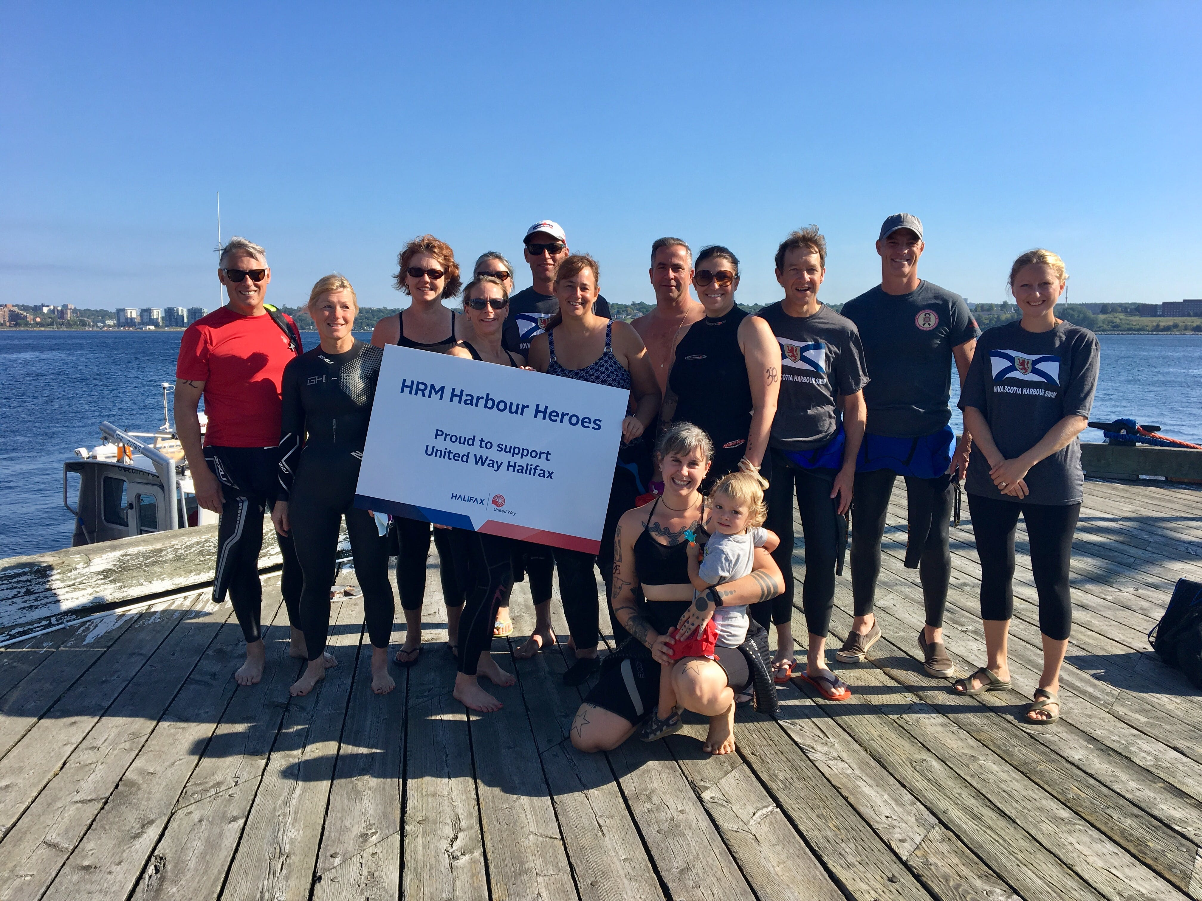 HRM Harbour Heroes gearing up to take the plunge at United Way Halifax's Harbour Swim, September 2018