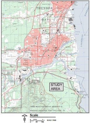 Chippewa Park Breakwater Study Map 1