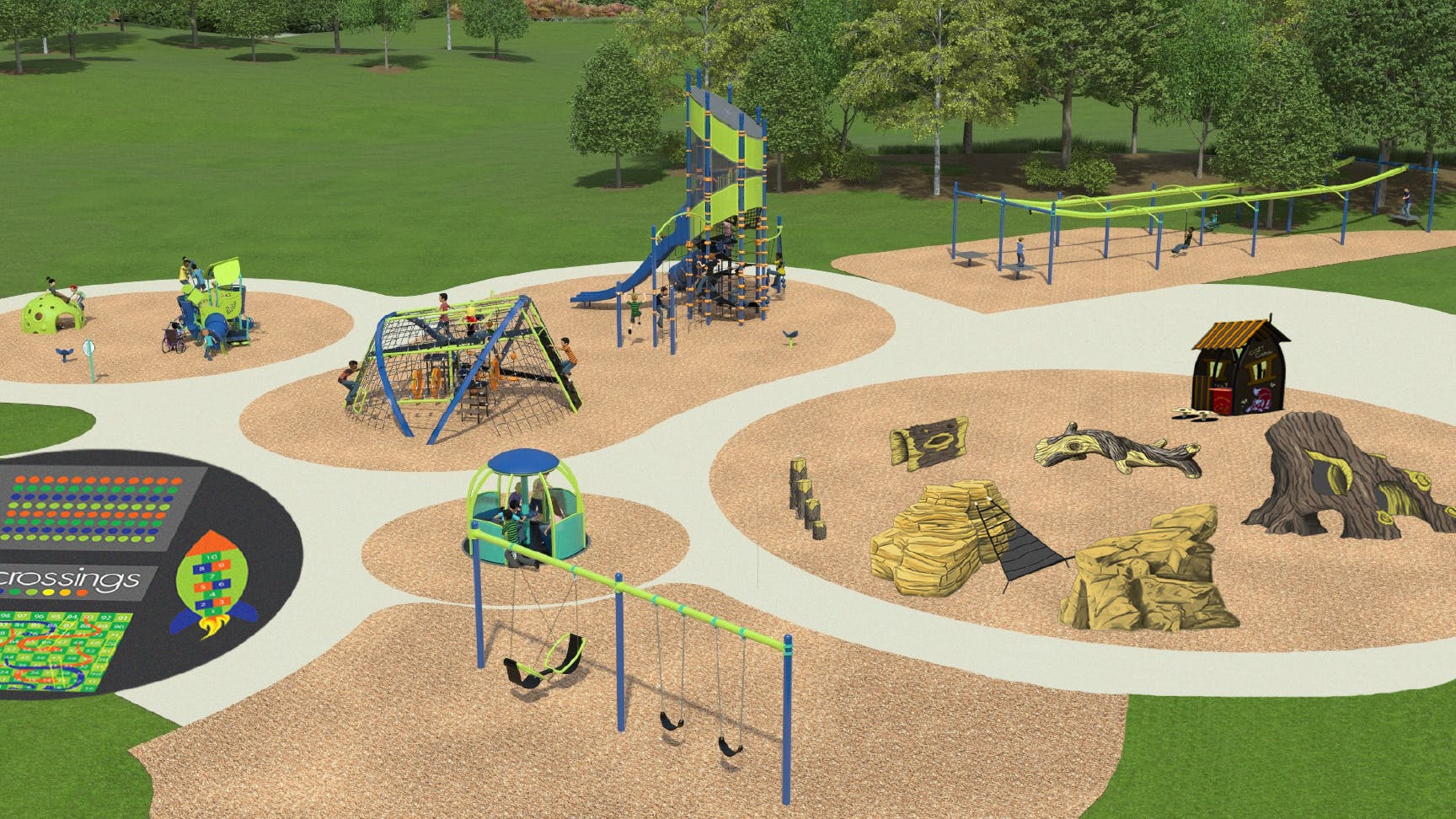 Crossings Playground Renderings