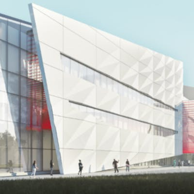 Concept Drawing of New Edmonton Lab Hub, from Southwest