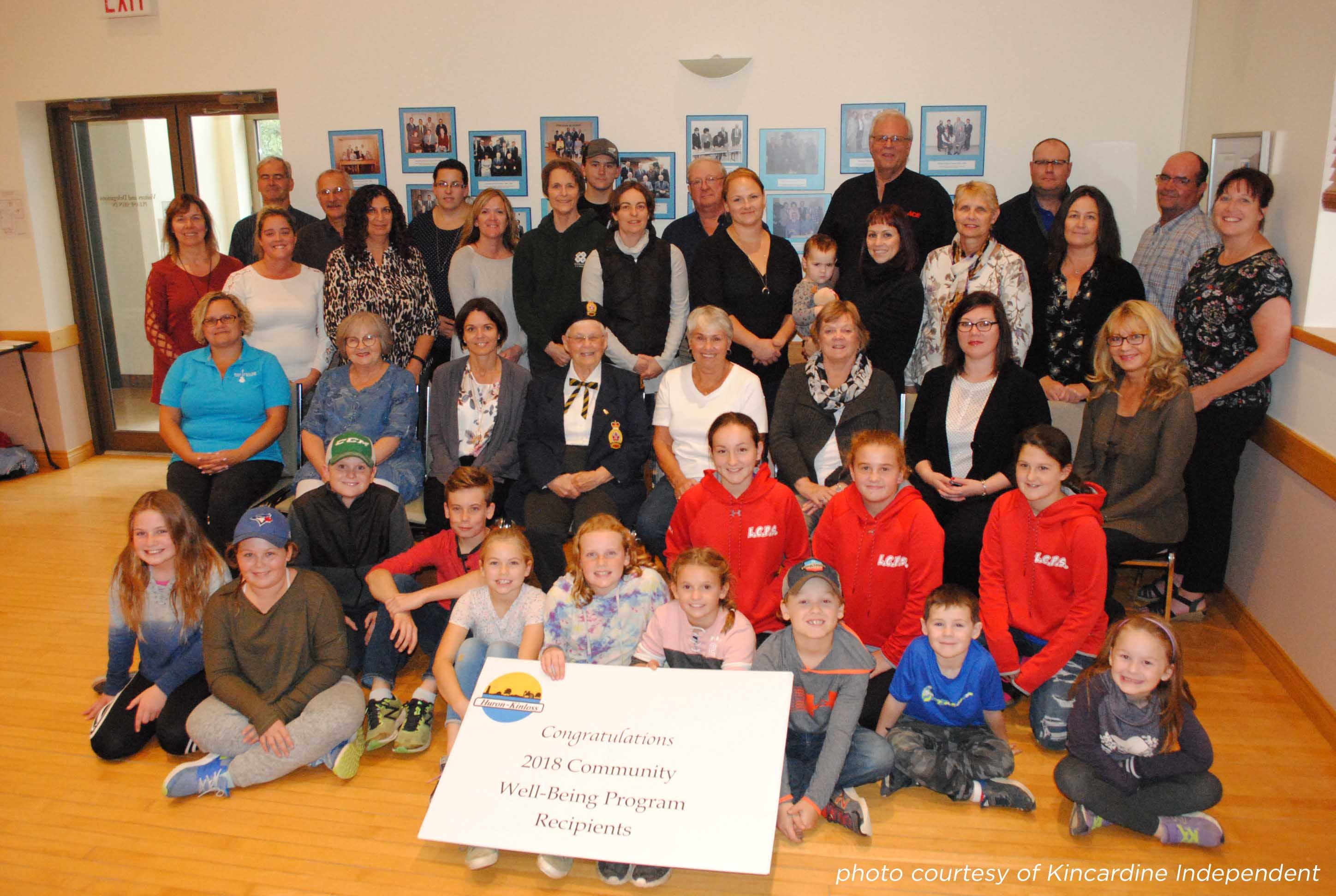 2018 Huron-Kinloss Community Well-Being Recipients