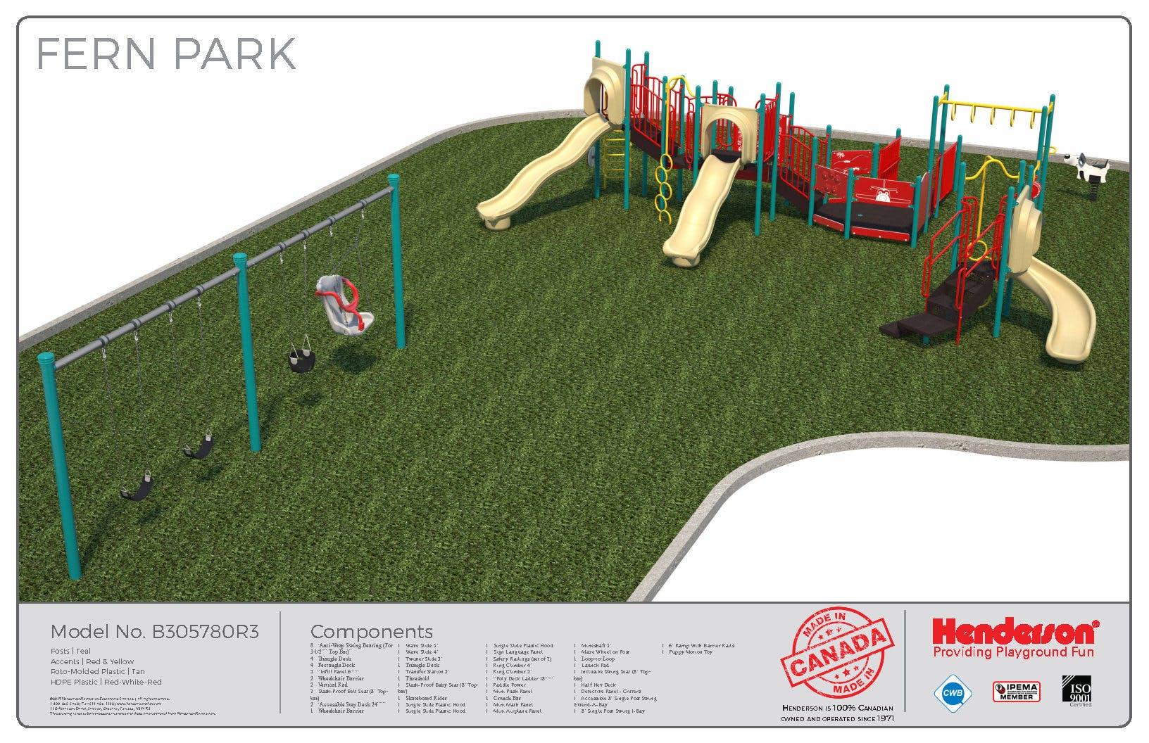 Fern Park Playground Rendering