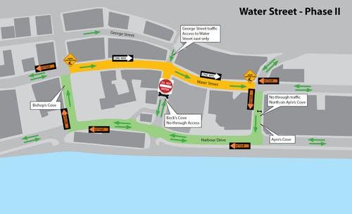 Water Street Detour Map