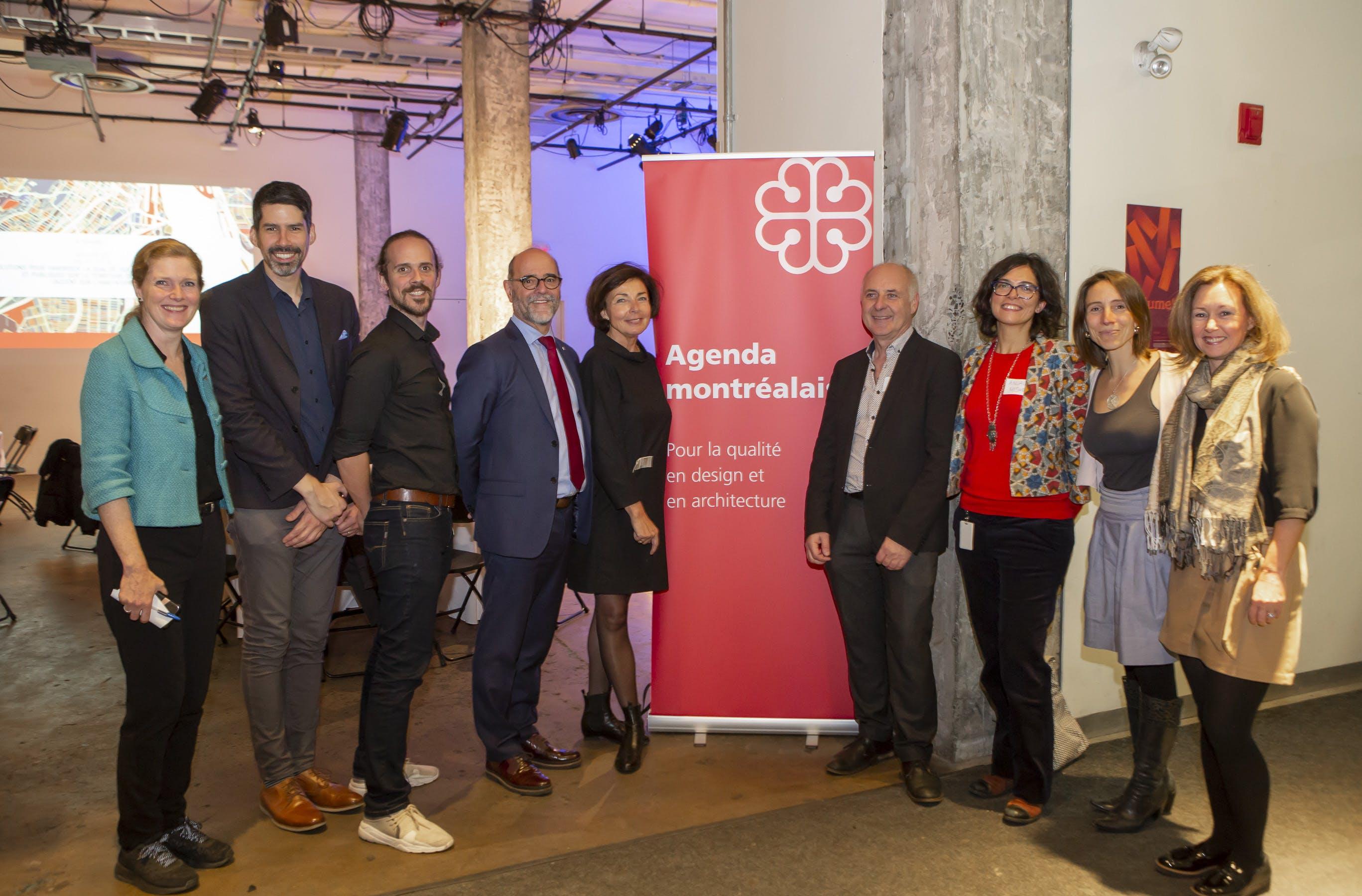 Membres du groupe de travail de l'Agenda en présence du Directeur général de la Ville de Montreal, M. Serge Lamontagne