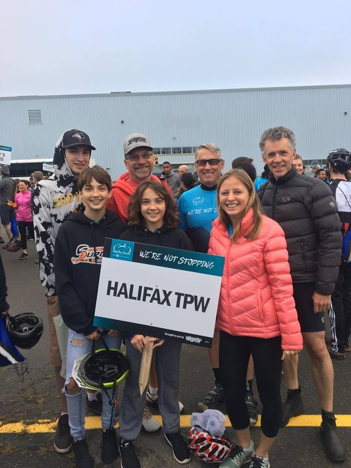 Transportation & Public Works supporting the Ride for Cancer, September 2018