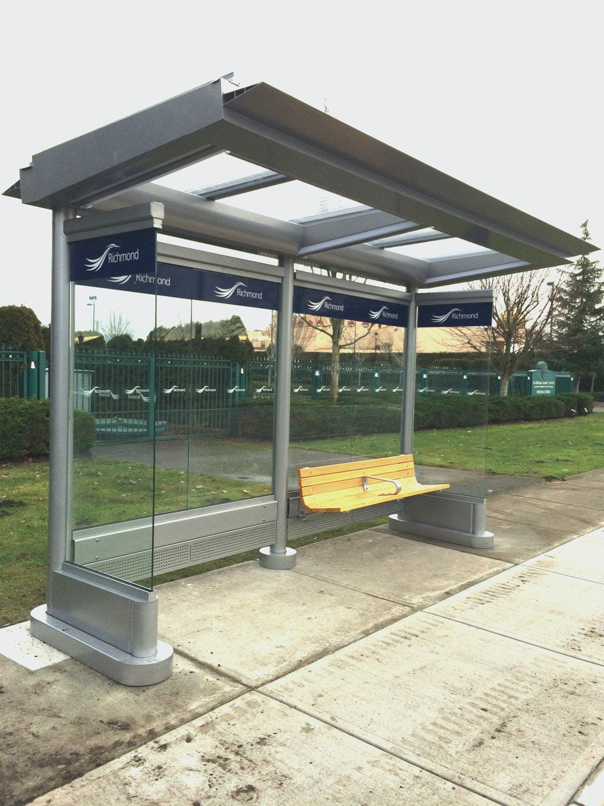 City-owned transit shelter