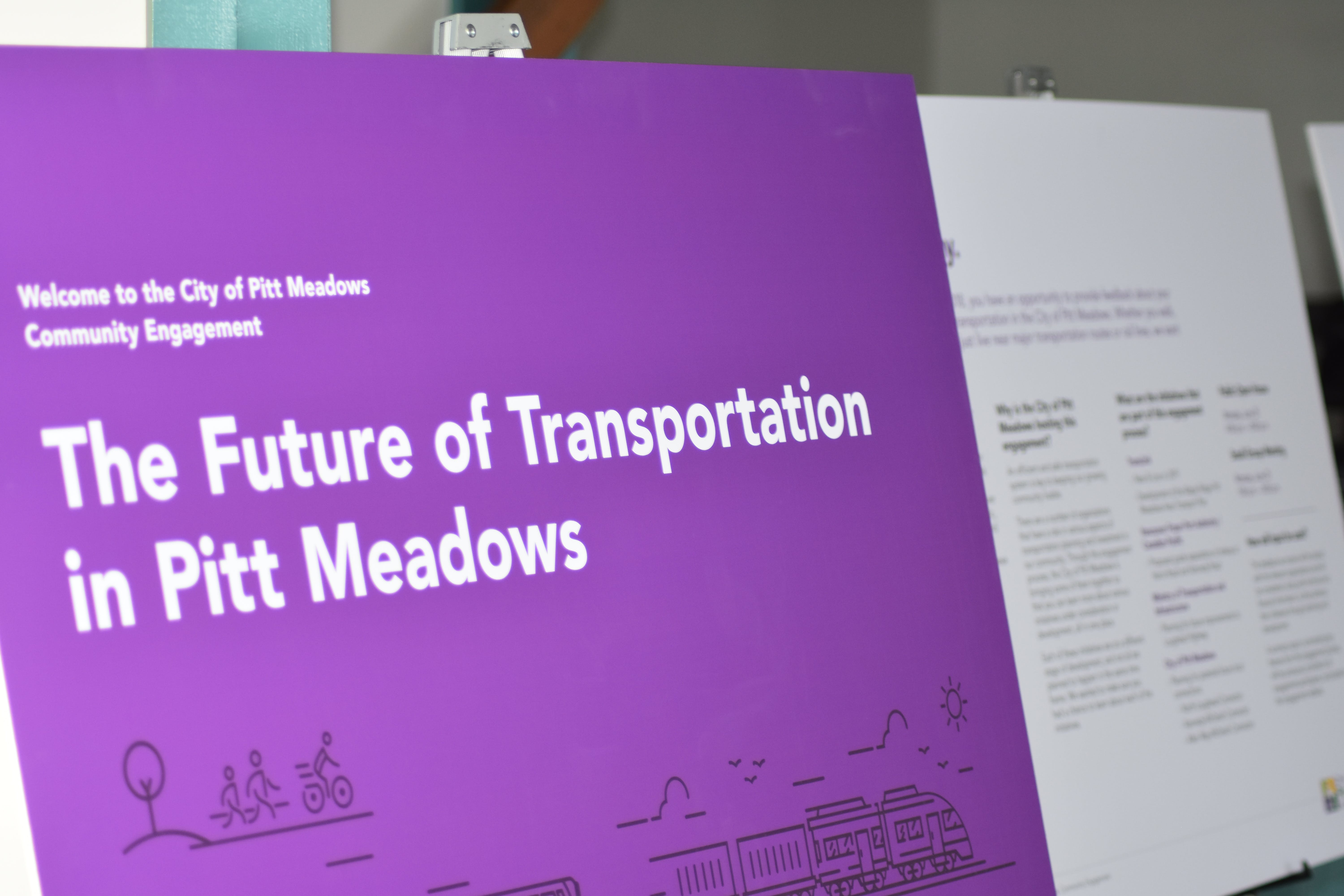 Transportation open house display boards