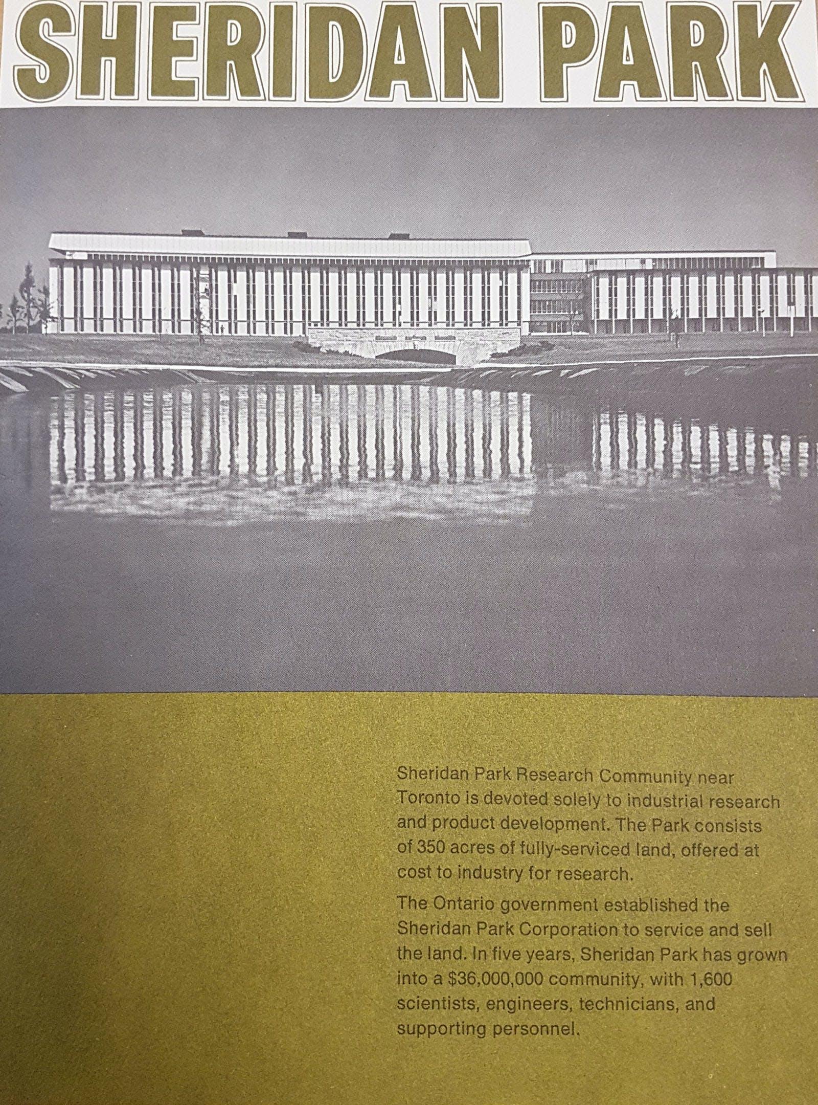 Sheridan Research Park brochure
