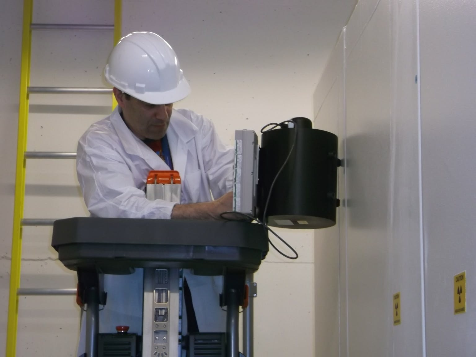 Radiation Safety Officer Monitoring Cyclotron