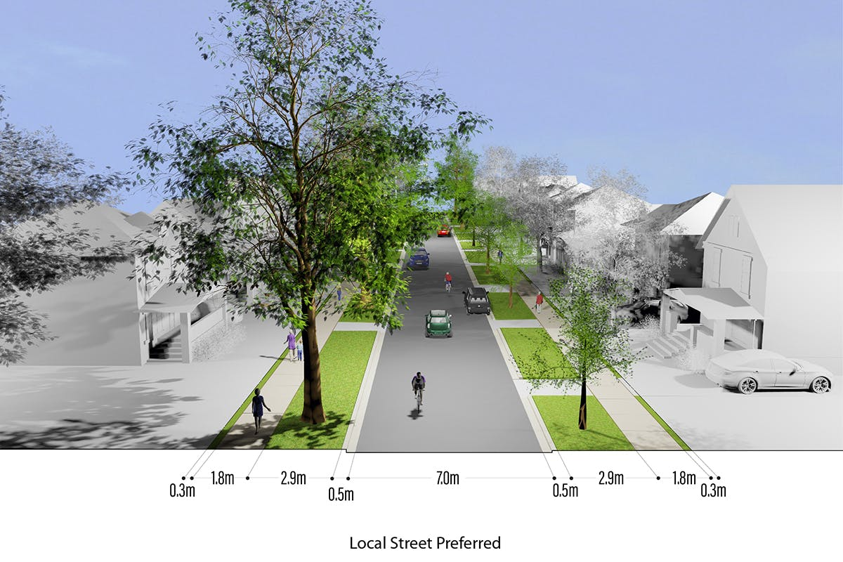 Proposed Local Street Cross-section