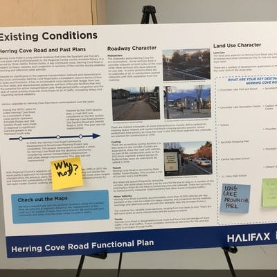 Herring Cove Road Open House Presentation Board 2
