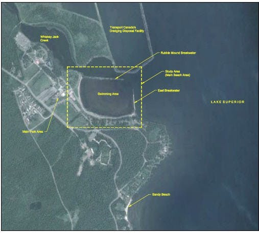 Chippewa Park Breakwater Study Map 2