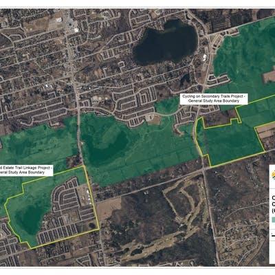 Oak Ridges Corridor Conservation Reserve Study Areas Map