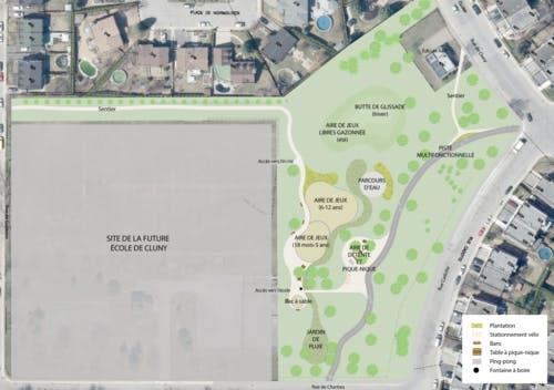 Plan final du parc-école de Cluny